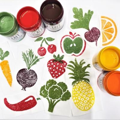 Fabric Paint Set- Fruit & Vegetable Colours