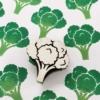Indian Wooden Printing Block - Broccoli