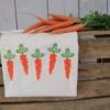 Block Printed Carrot Bag