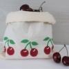 Block Printed Cherry Bag