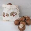 Block Printed Mushroom Bag