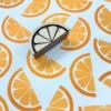 Indian Wooden Printing Block - Orange Slice