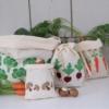Block Printed Reusable Produce Bags