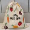 Organic Fruit and Veg Block Printed Bag