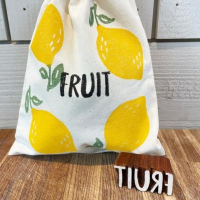 Fruit Text Printing Block