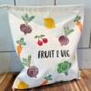 Large Fruit and Veg Text Printing Block