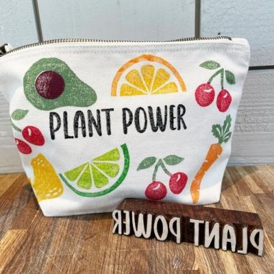 Plant Power Text Printing Block