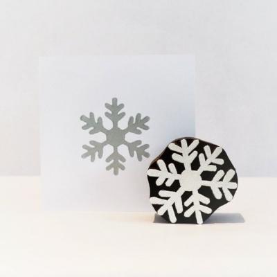 6 Point Simple Snowflake Printing Block