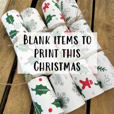Christmas Blank Items