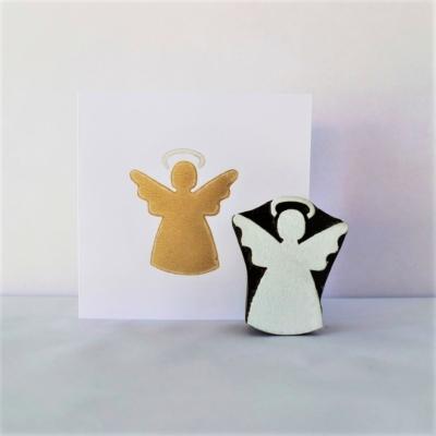 Indian Wooden Printing Block - Medium Solid Christmas Angel