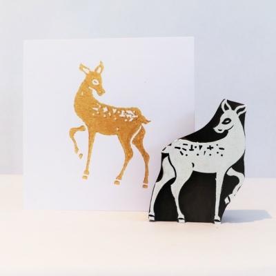 Bambi Christmas Printing Block