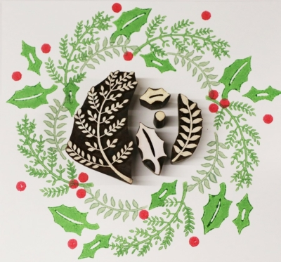 Leaves and Holly Printing Set