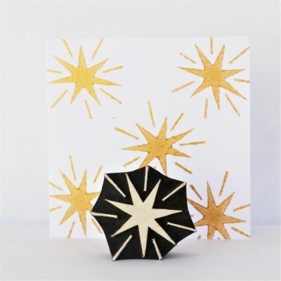 Indian Wooden Printing Block - Christmas Starburst