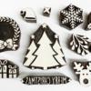 Block Printing Contemporary Christmas Set