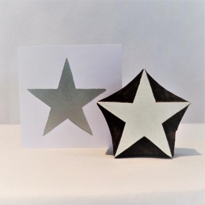 Indian Wooden Printing Block - XXL Star