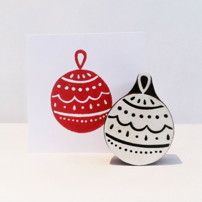 Indian Wooden Printing Block - Festive Christmas Decoration