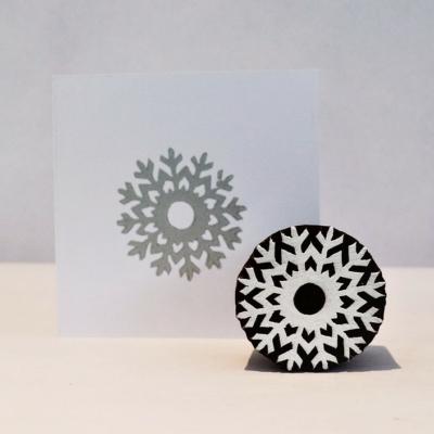 Icy Snowflake Indian Printing Block
