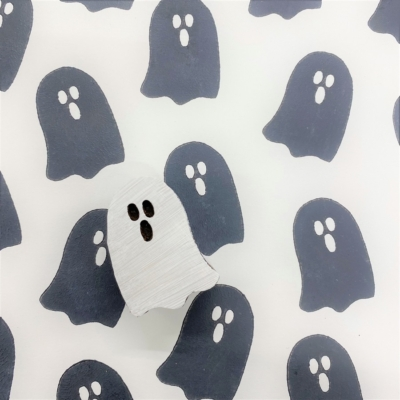 Indian Wooden Printing Block - Small Ghost
