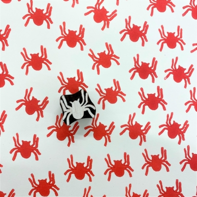 Indian Wooden Printing Block - Small Spider