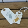 Small Funky Angel Gift Tags