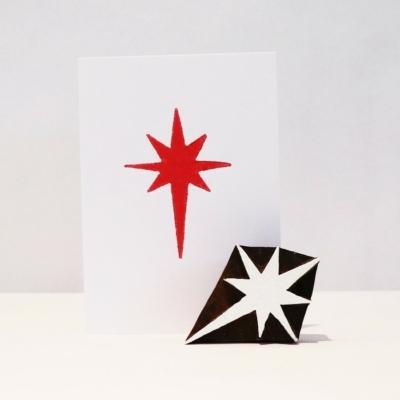 Indian Wooden Printing Block - Nativity Christmas Star
