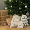 Printed Christmas Set of 3 bags