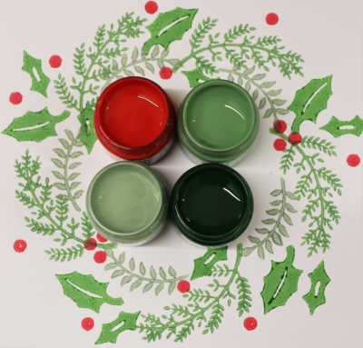Set of Christmas Fabric Paints