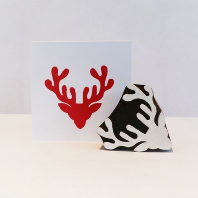 Indian Printing Block- Stags Head
